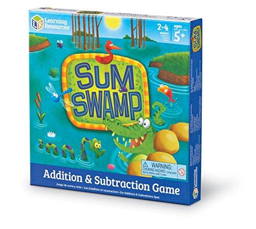 Amazon: Juego de mesa / Board game - Sum Swamp Game. Ideal para niños y niñas en kinder o primaria.