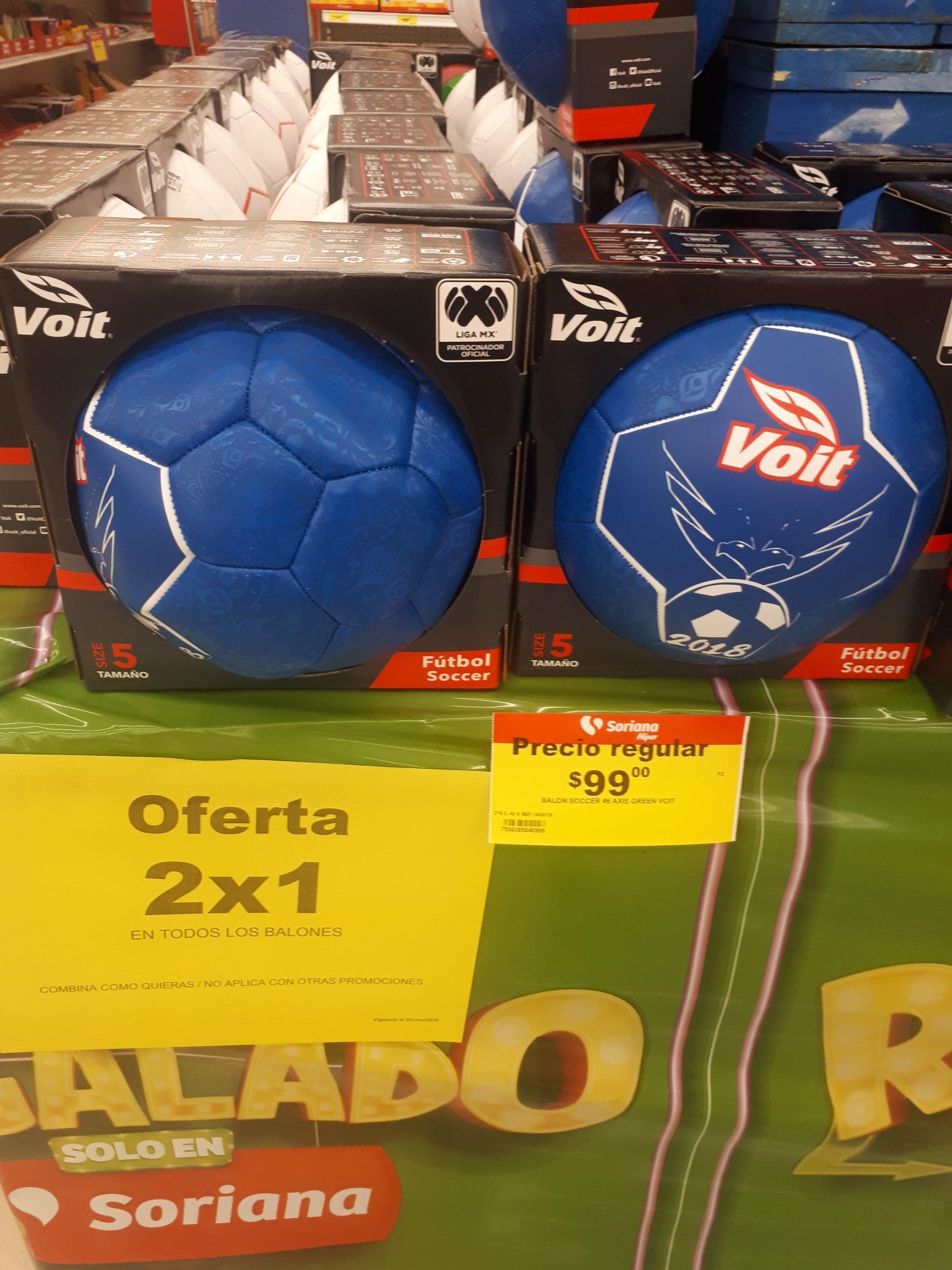 Soriana: 2x1 En balones Voit