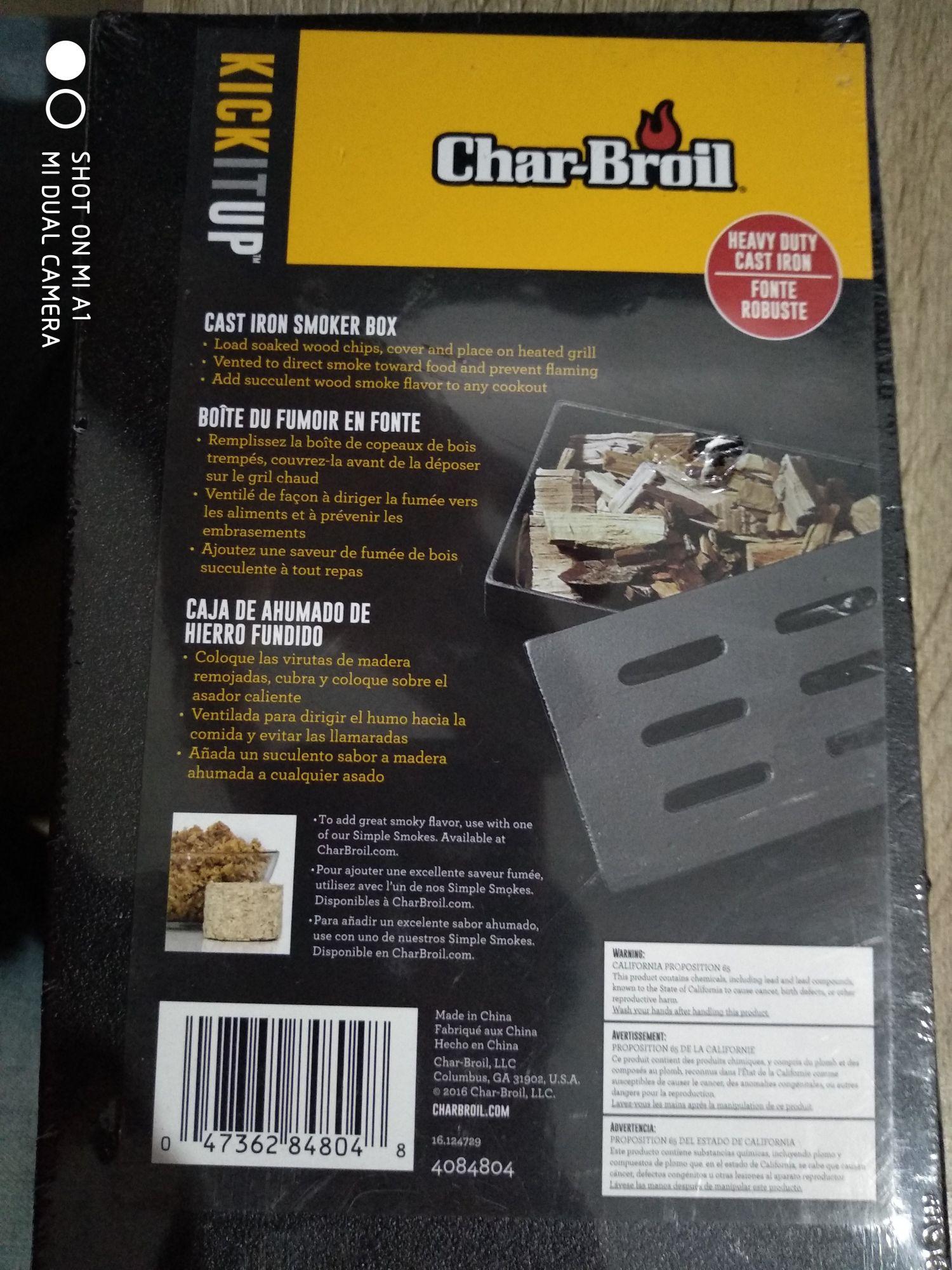 Walmart: Caja ahumadora Char Broil