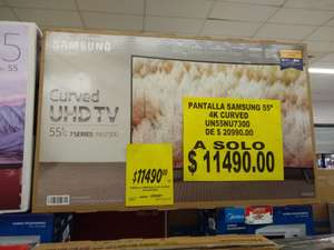 "Soriana Mercado: Smart tv Samsung curve 55"" 4k"