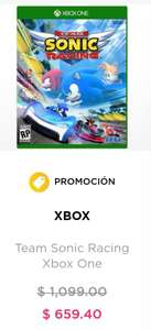 Palacio de Hierro: Team Sonic Racing Xbox One, Switch Y PS4