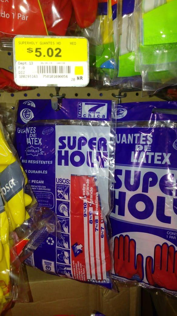 Walmart guantes de látex