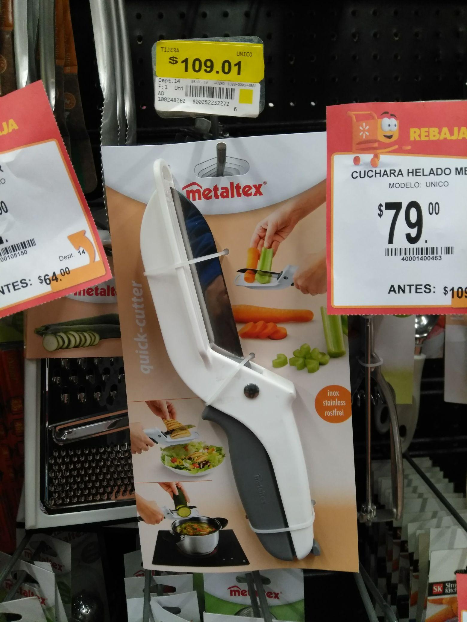 Walmart: Tijera para comida.  En terminación. 01
