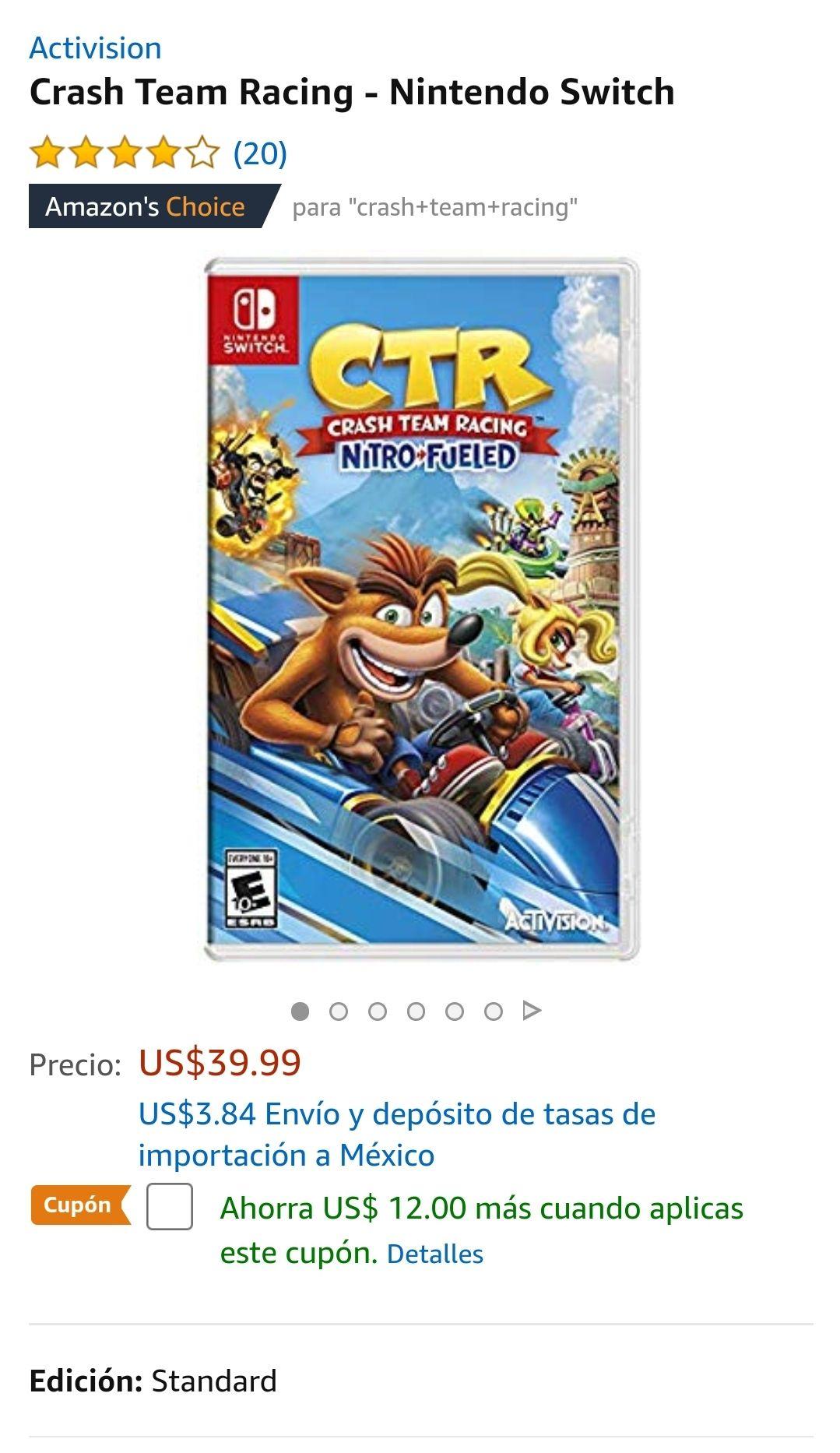 Amazon USA: Crash Team Racing - Nitro Fueled (Nintendo Switch)