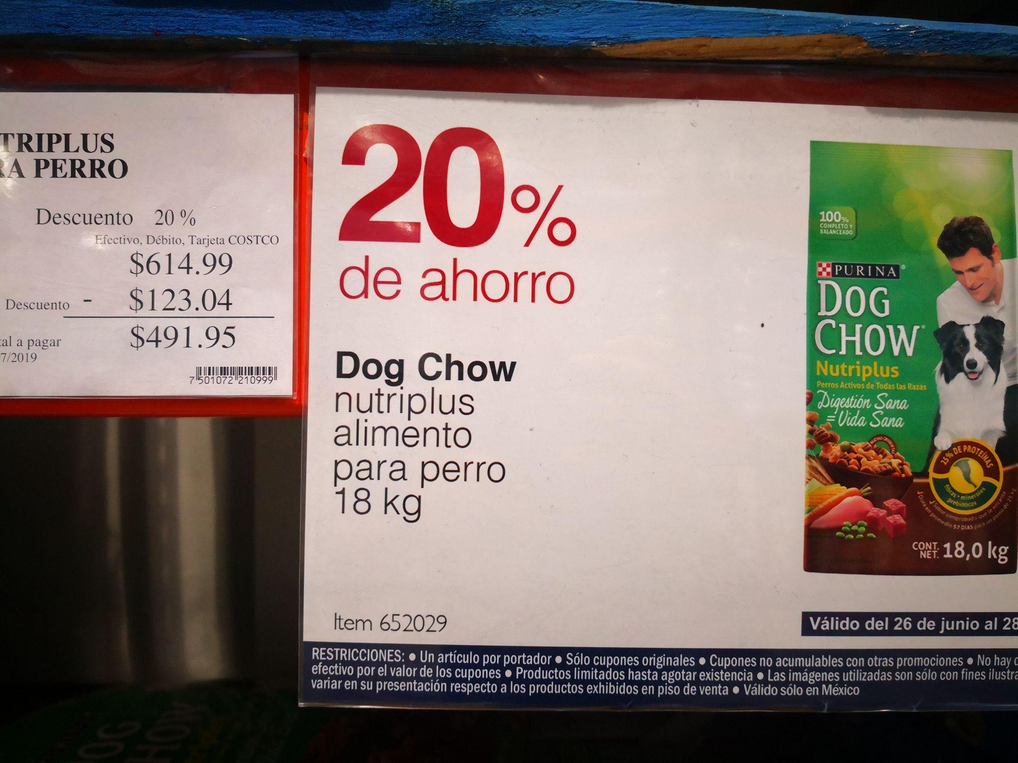 Costco: Dog Chow 18 kg