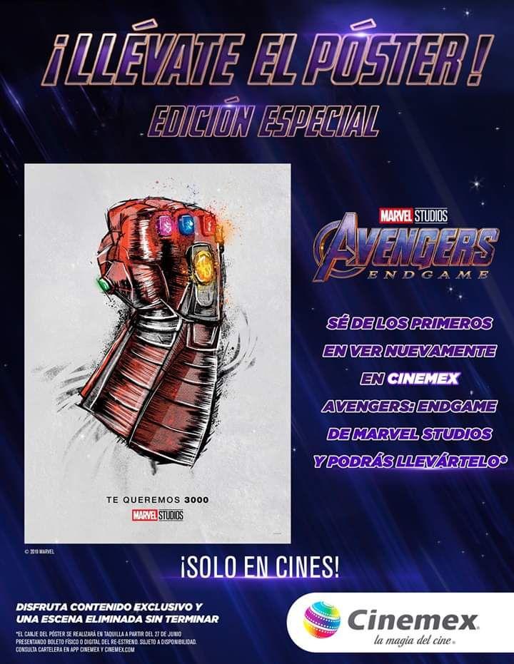 Cinemex: Poster del re-estreno de End Game