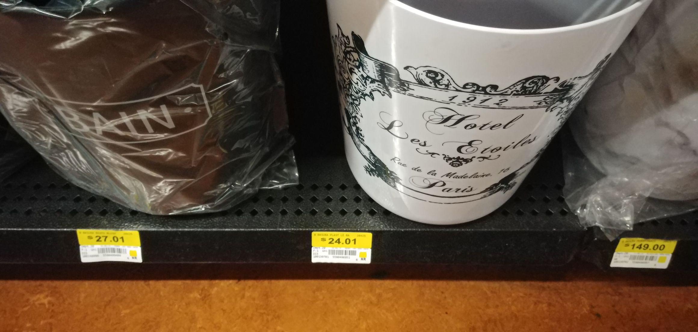 Walmart: Bote de basura para baño con diseño cool