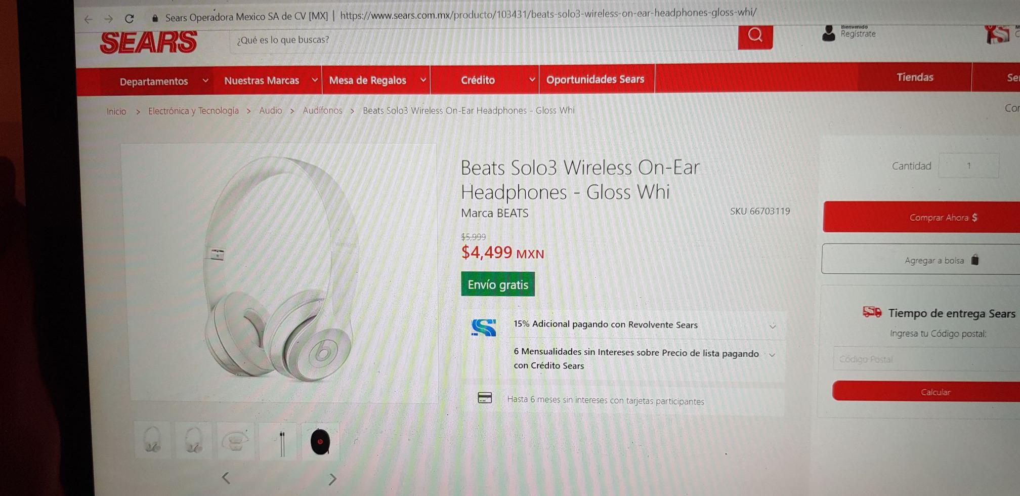 sears Audifonos Solo3 wireless