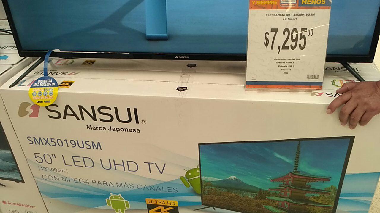 Chedraui: Sansui 50 Smart tv