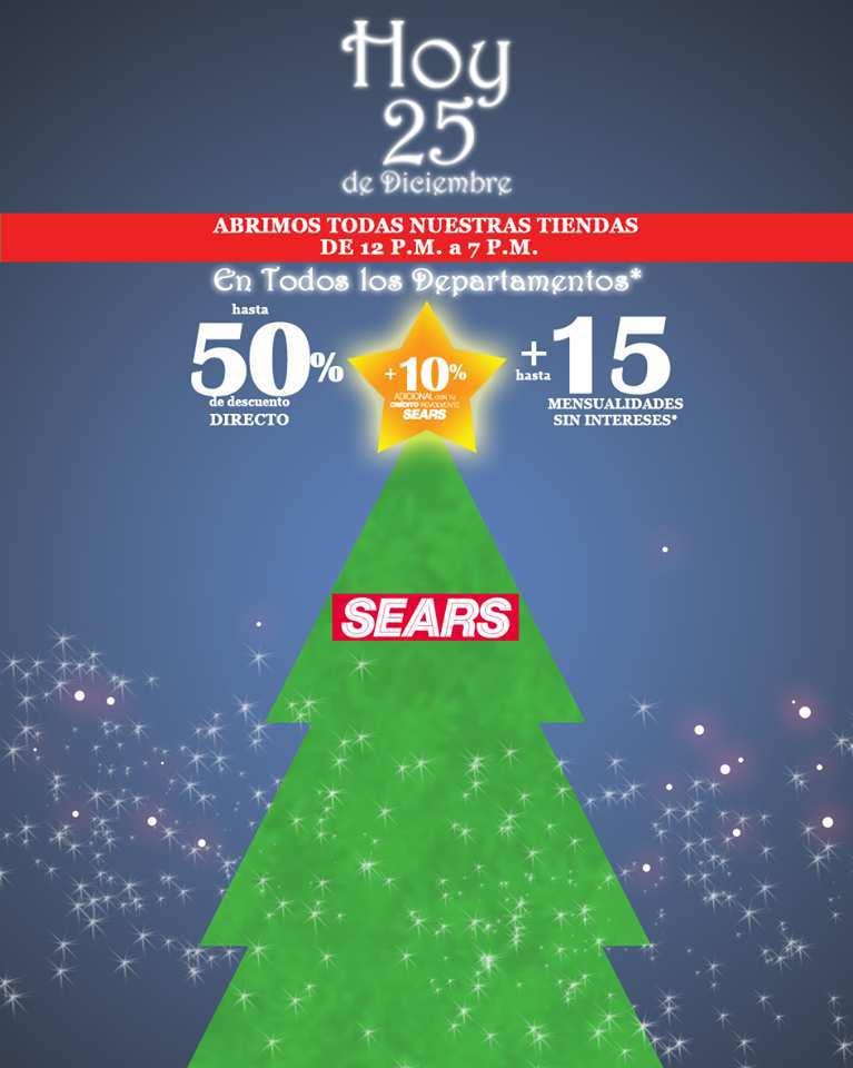 Sears: Todos los departamentos con hasta el 50% de descuento y 15 MSI