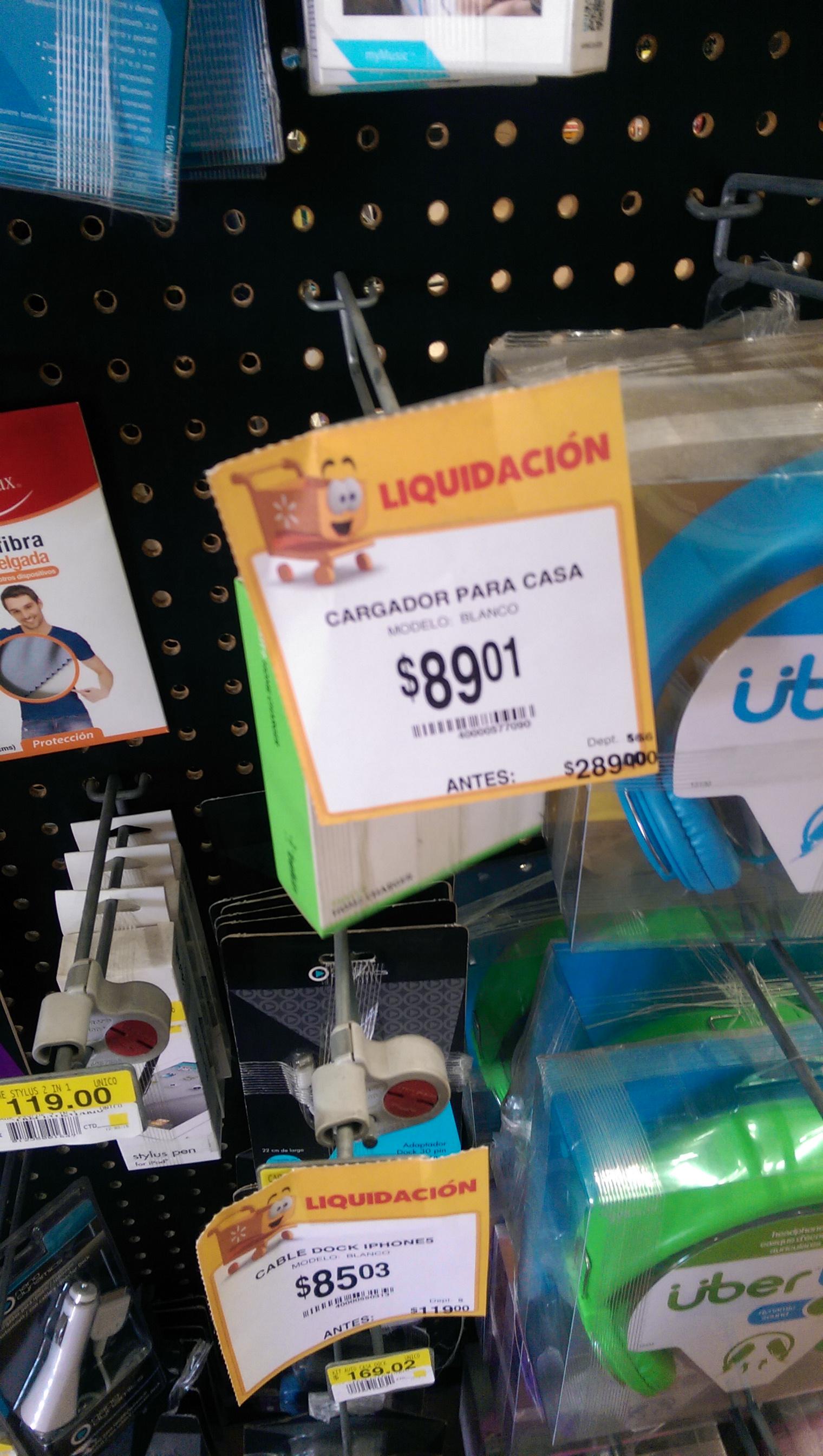 Walmart Colon Gdl. Cargador Belkin de pared $89.01