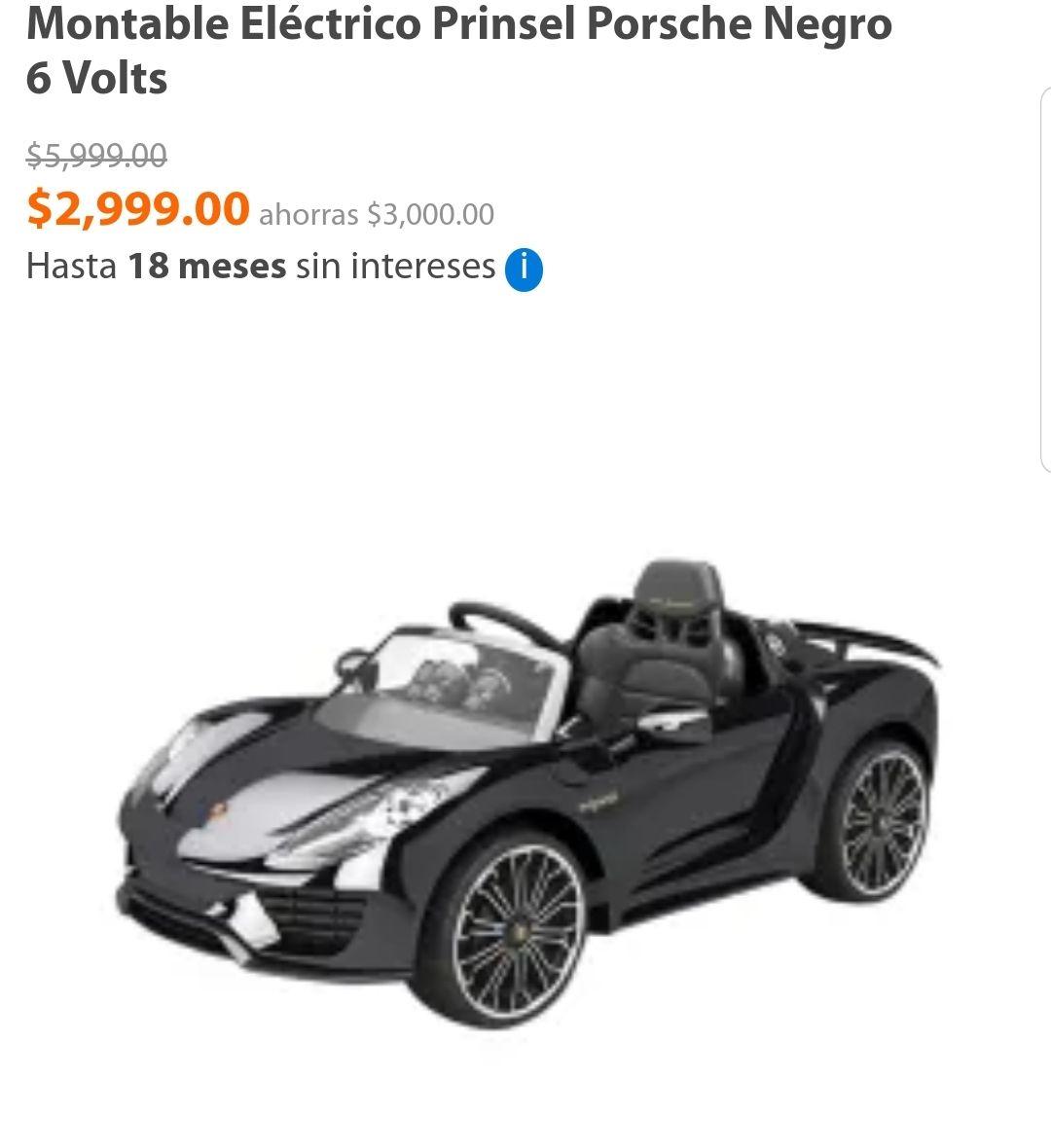 Walmart: Montable eléctrico Porsche