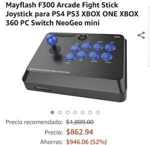 Amazon: Arcade fight stick para ps4, ps3, Xbox one, Xbox 360 y pc