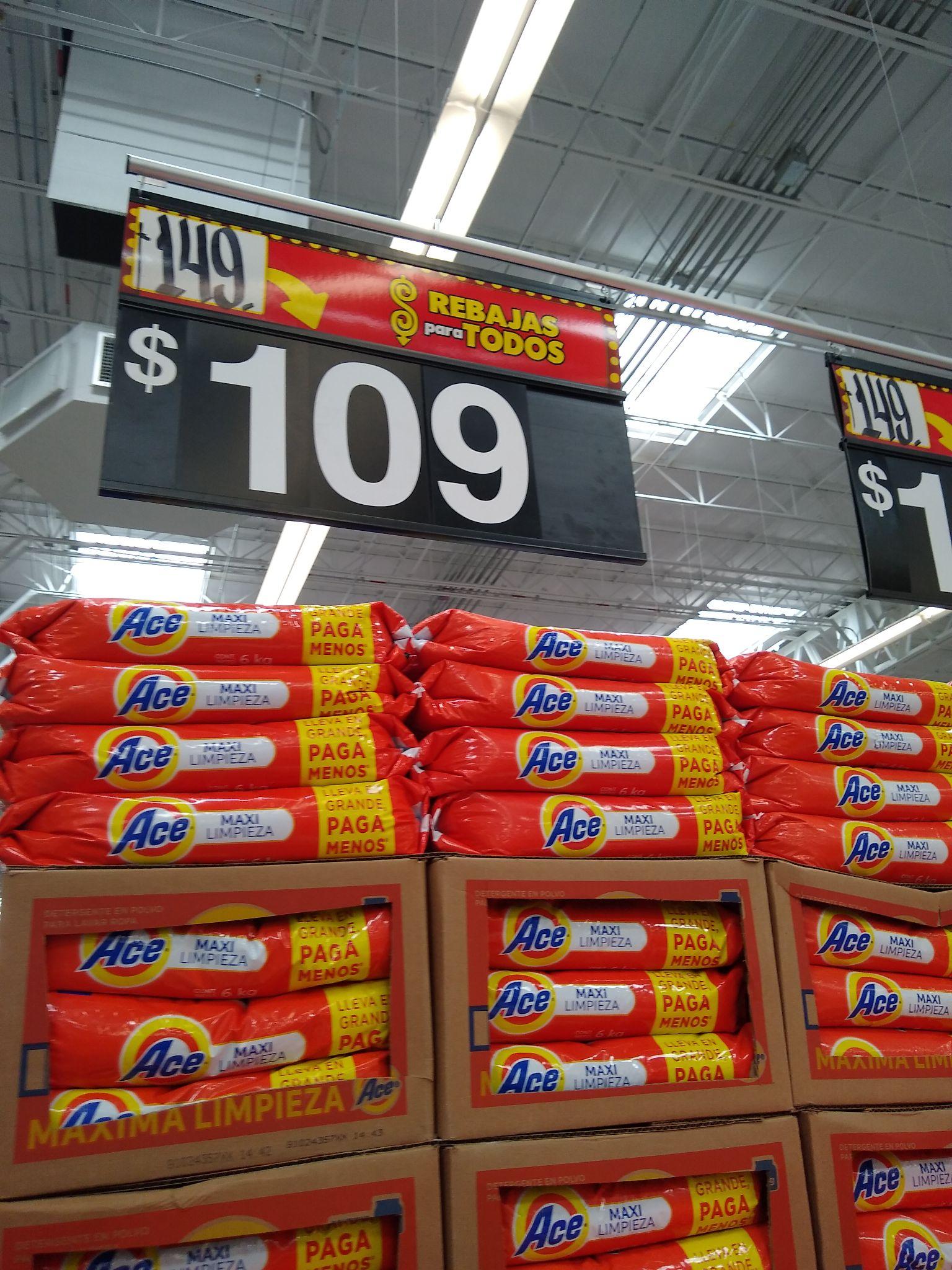 Walmart: Ace 6kgs de 149 a