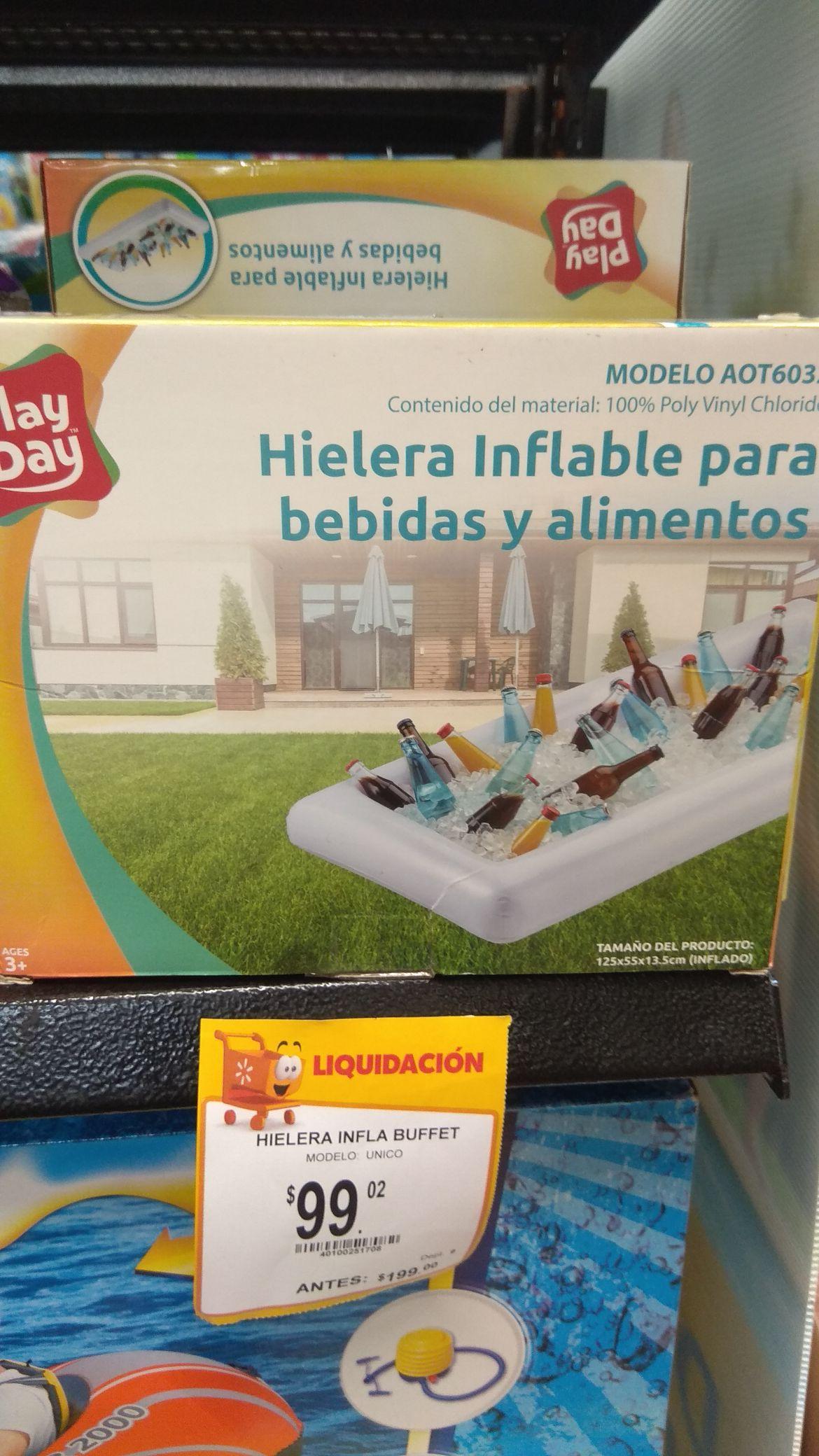 Walmart: Hielera inflable en 2da. Liquidación