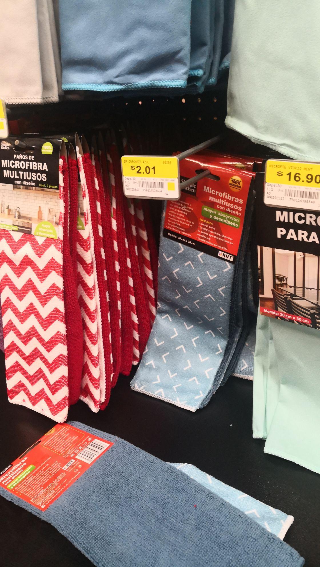 Walmart: Trapos de microfibra