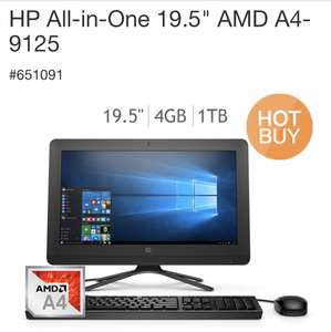 "Costco: HP All-in-One 19.5"" AMD A4-9125"
