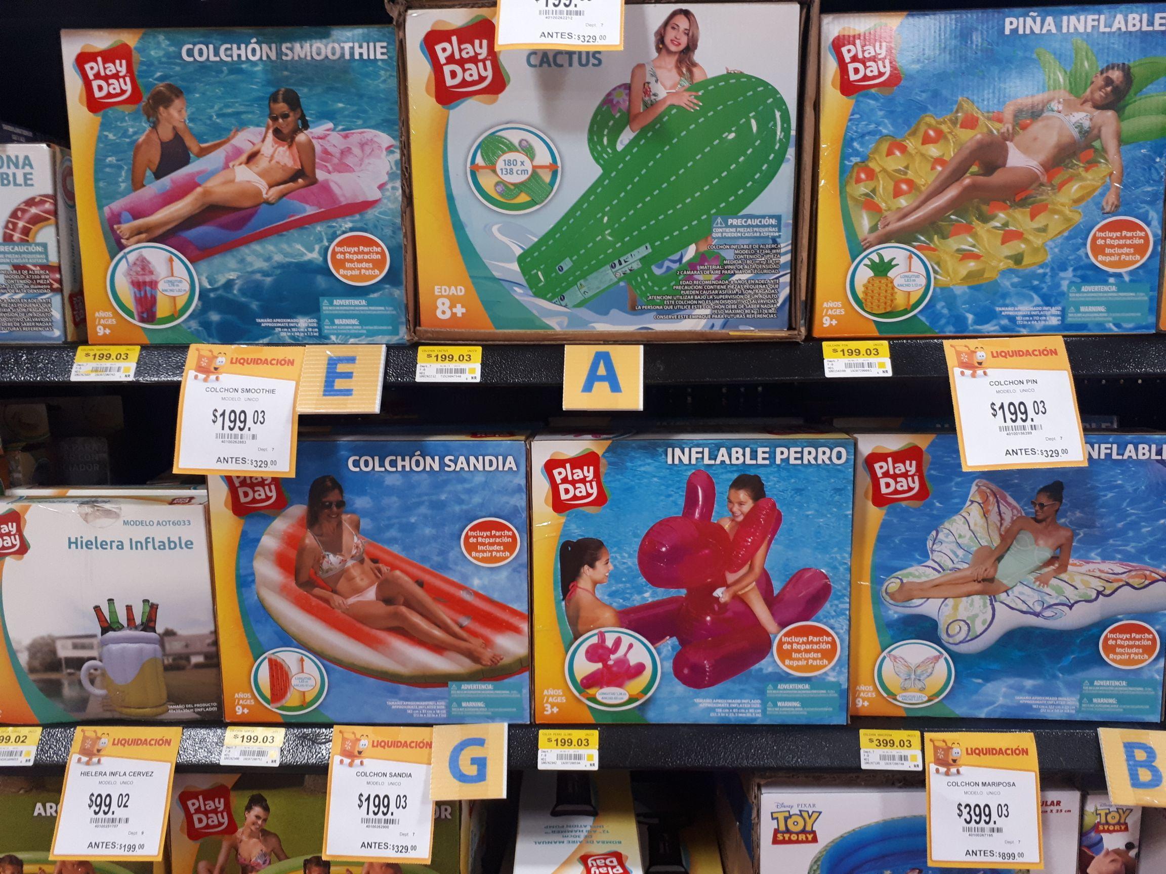 Walmart: Inflables para alberca