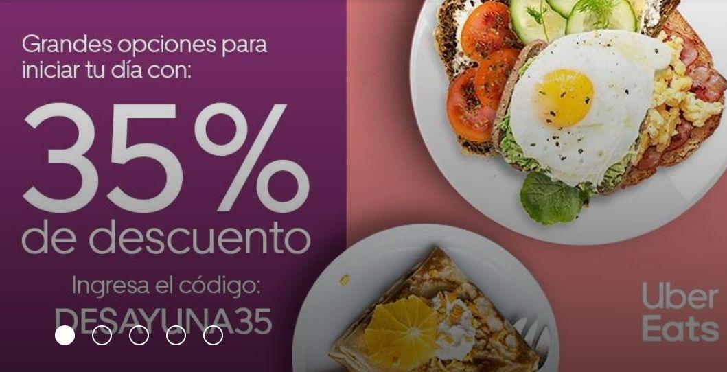 35 % descuento Uber Eats en Desayunos