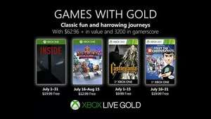 Xbox Games With Gold Julio