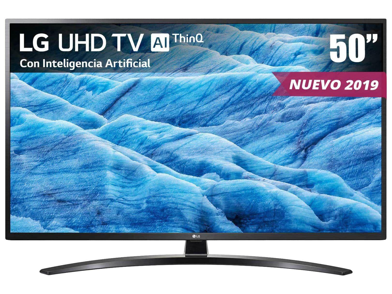 Liverpool Pantalla smart LG UHD TV AI ThinQ 4K 50 Pulgadas 50UM7400PUA