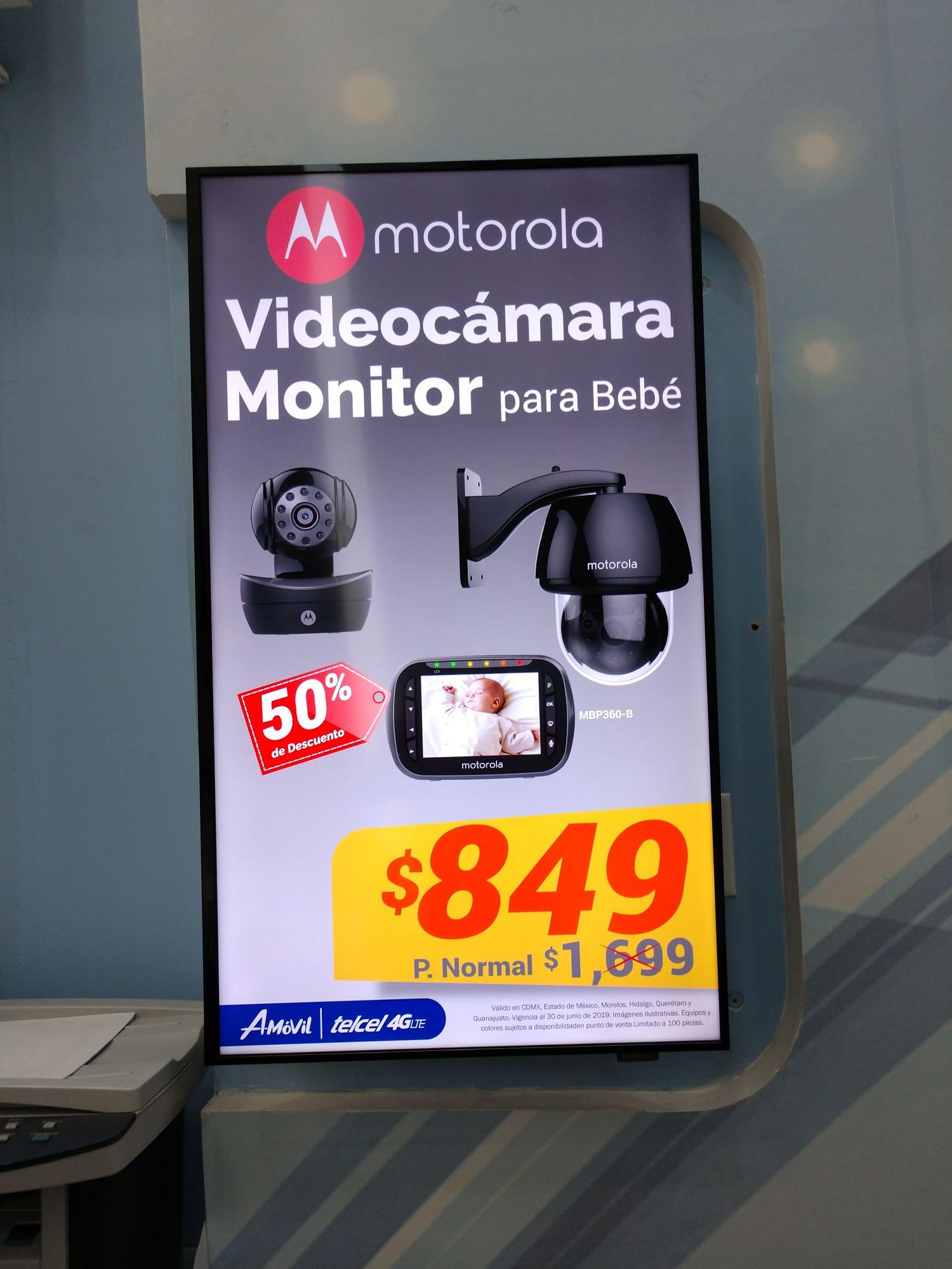 AMOVIL: Videocámara monitor para bebe Motorola y Videocámara de seguridad Motorola