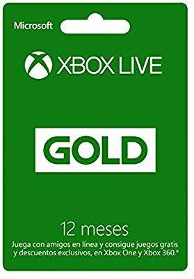 Amazon: Xbox Live Gold - Membresía 12 meses