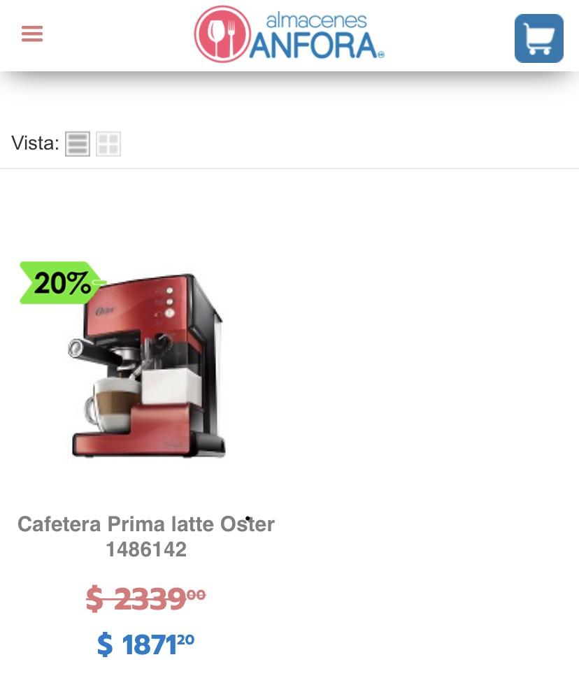 Almacenes Ánfora: Cafetera Prima Latte Oster