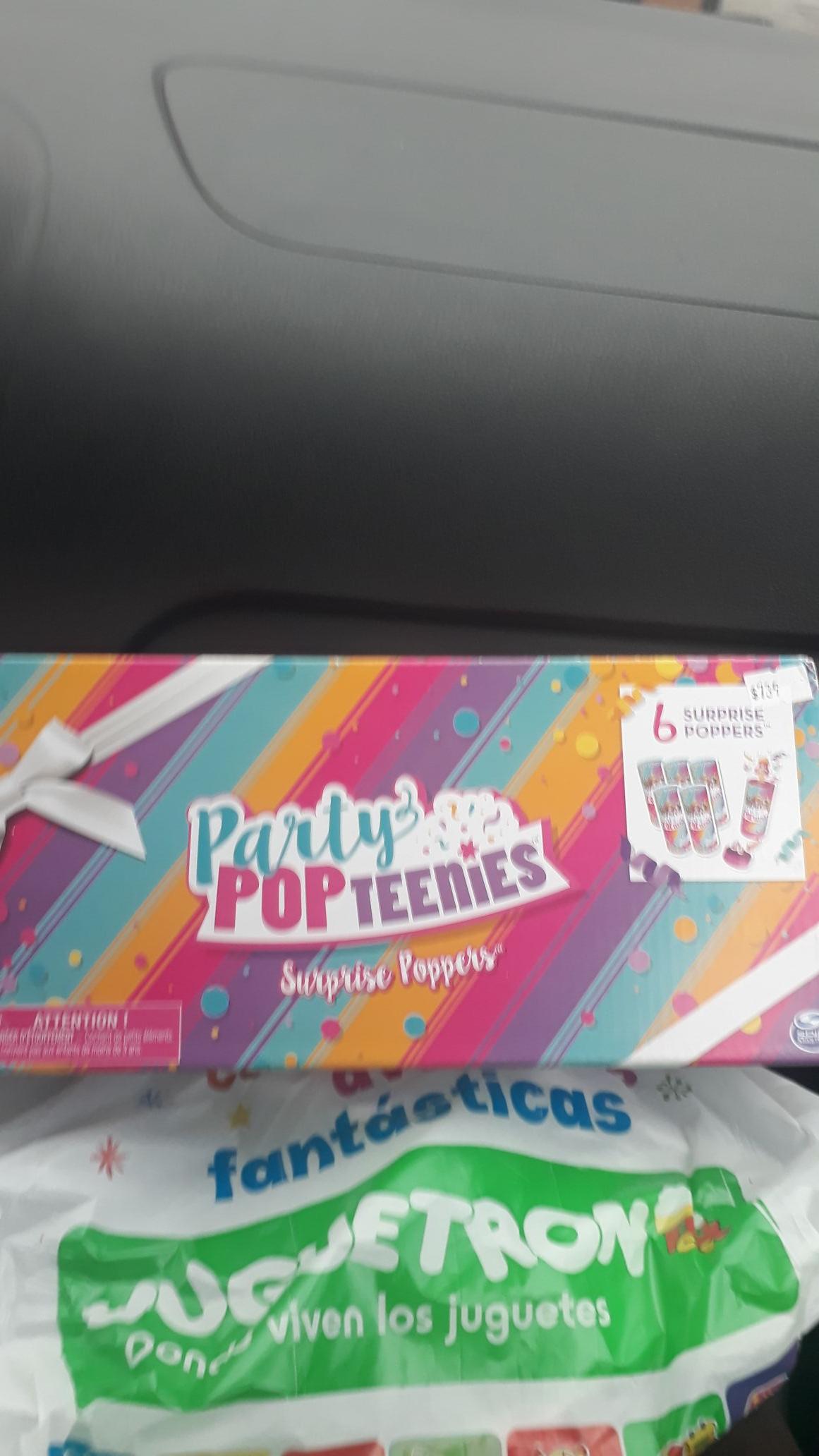 Juguetron: paquete de 6 partty pop teenies c/u $37
