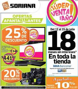Folleto Soriana del 12 al 18 de julio