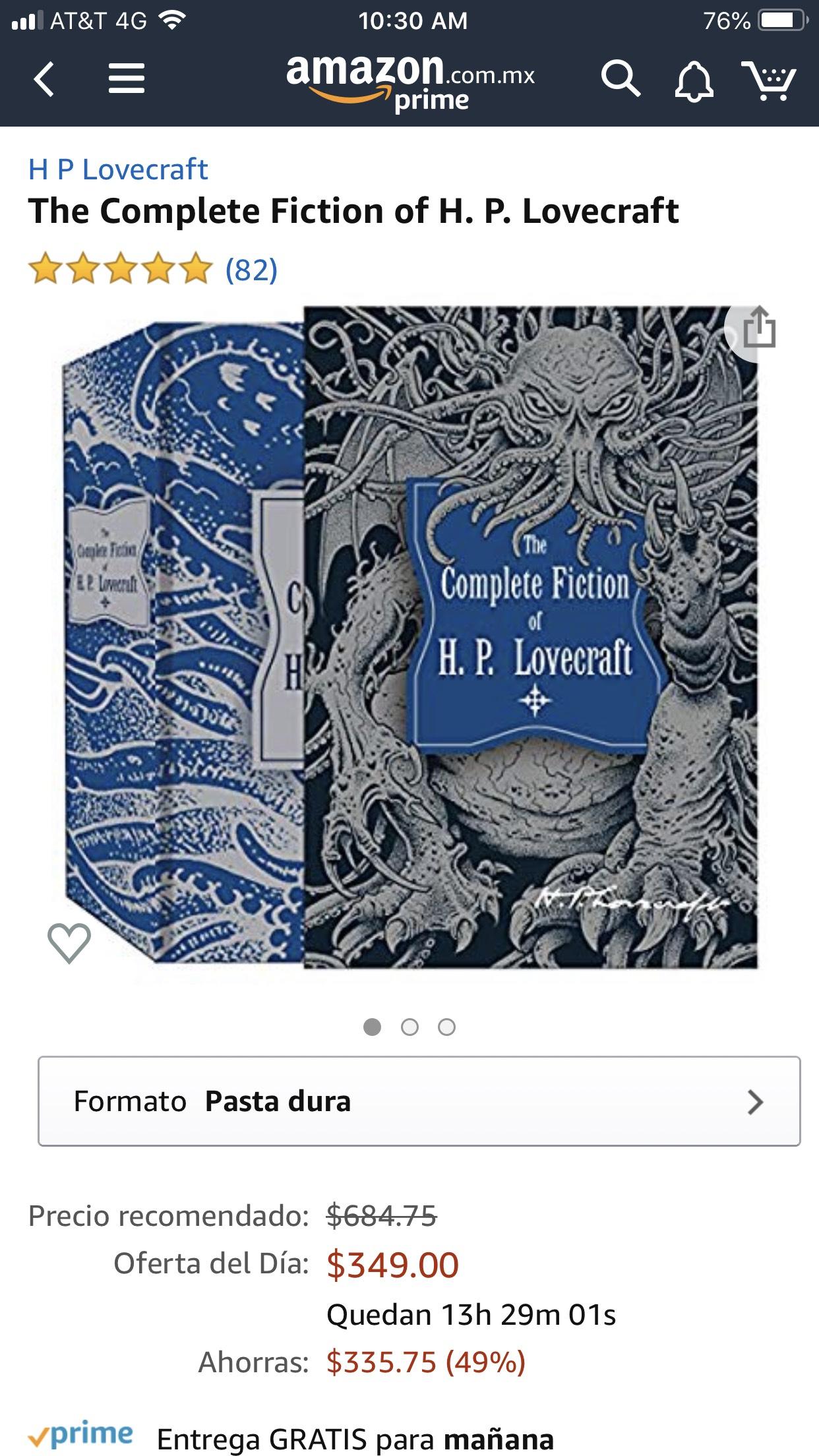 Amazon: Obras completas de H.P. Lovecraft