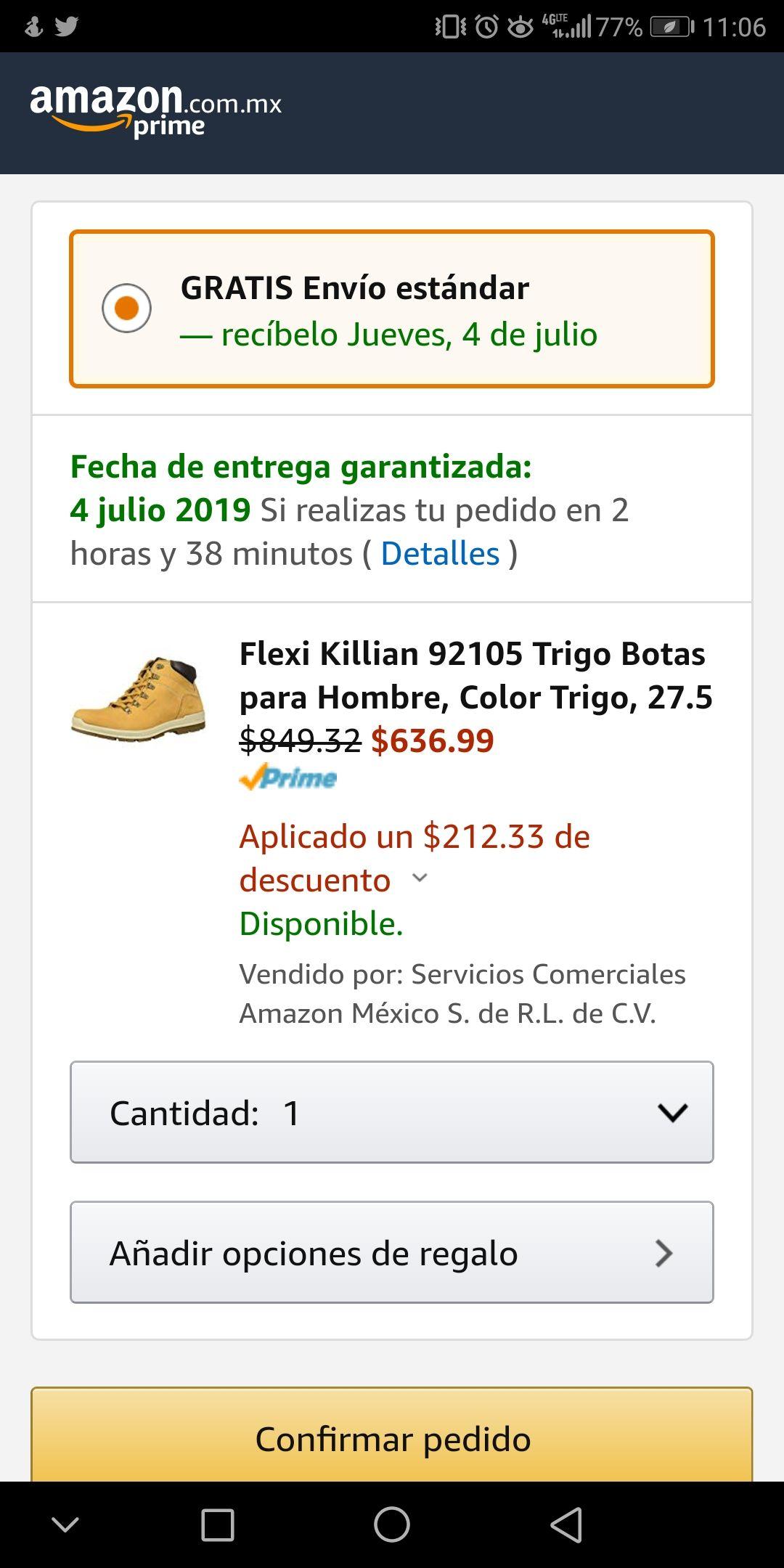 Amazon: Botas Flexi varios números de 1099 a 636.99