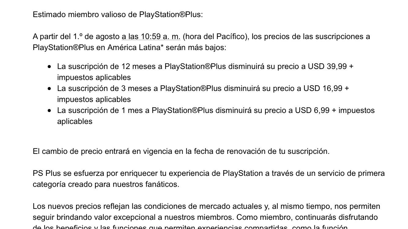 Playstation Store: baja en las suscripciones de PS Plus