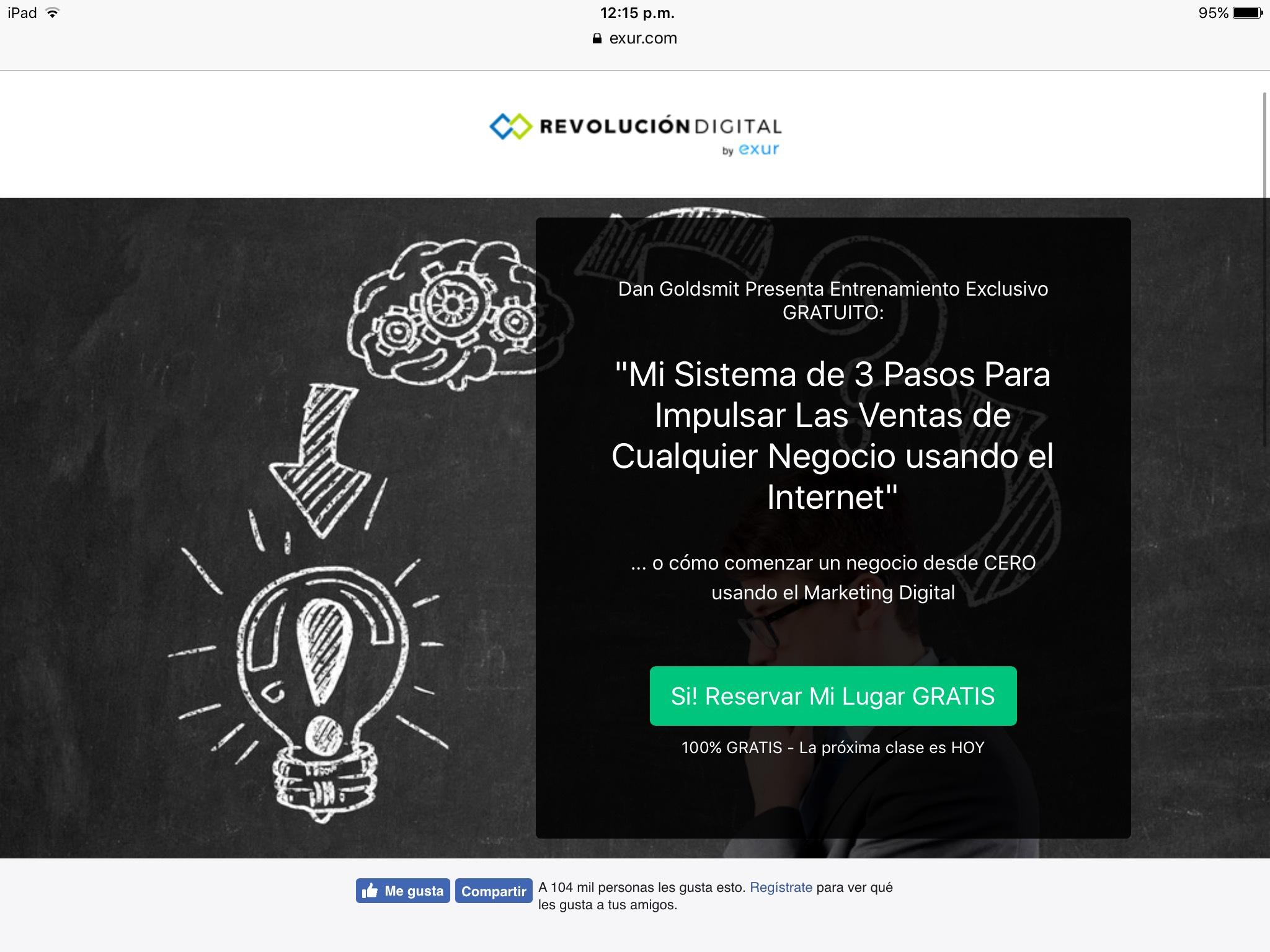 Exur: Clase gratuita en vivo sobre ventas por internet