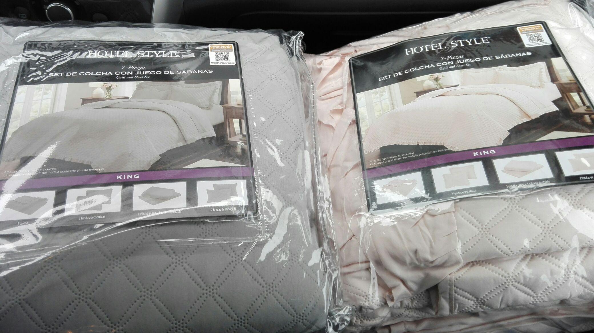Walmart: set de colcha con juego de sabanas hotel style 7 piezas