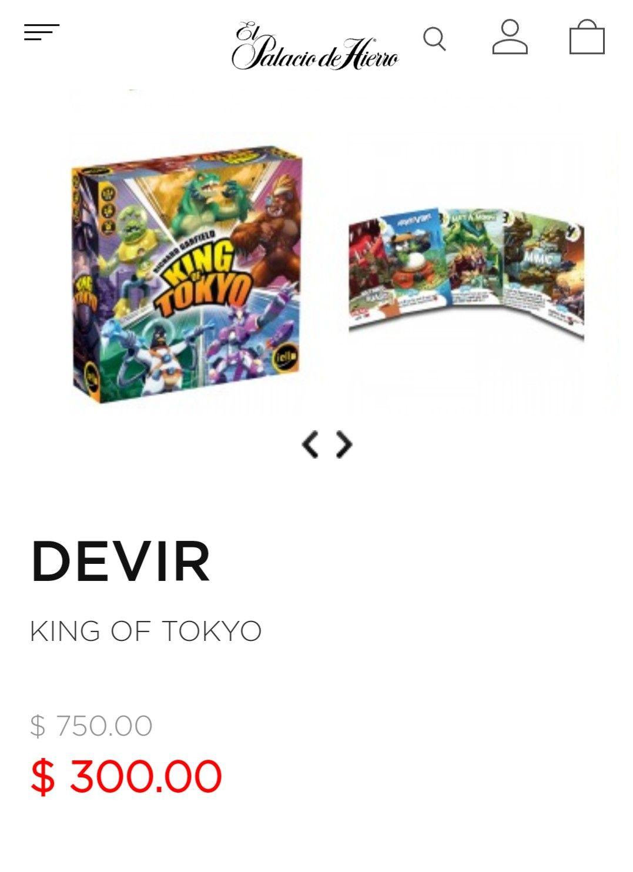El Palacio de Hierro en línea: King of Tokyo