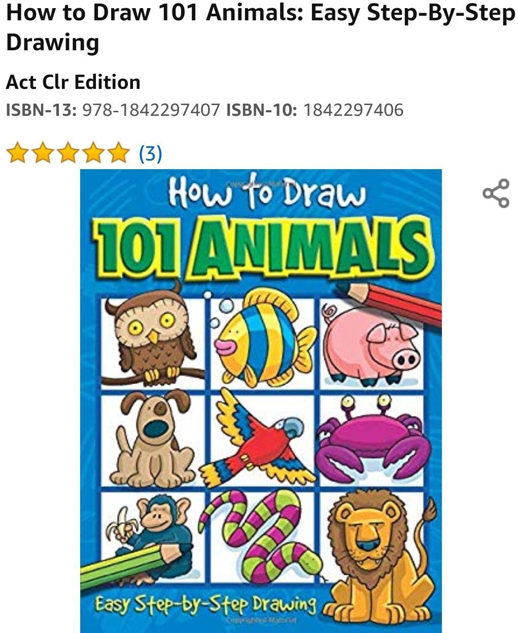 Amazon: Libro cómo dibujar animales de 100 tipos