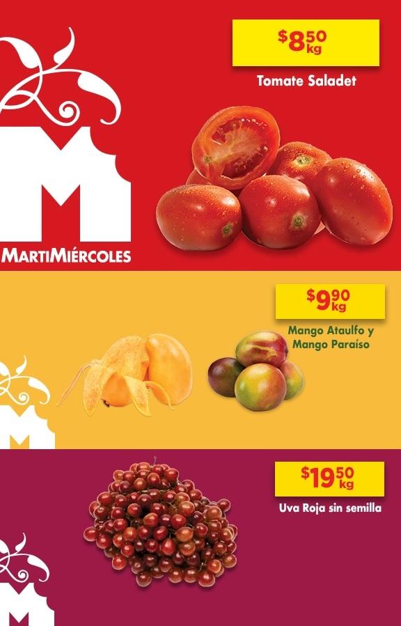 Chedraui: MartiMiércoles de Chedraui 2 y 3 Julio: Jitomate $8.50 kg... Mango Paraíso o Ataulfo $9.90 kg... Uva Roja sin Semilla $19.50 kg.