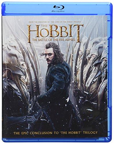Amazon: Hobbit: Batalla de los 5 Ejércitos BluRay/DVD/Figuras Lego de Bardo y Bain