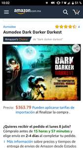 Amazon: Juego mesa dark darker darkest