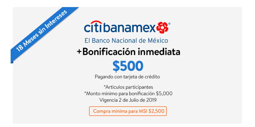 WALMART: CYBERMARTES $500 DE descuento INMEDIATA en compras mínimas de $5,000