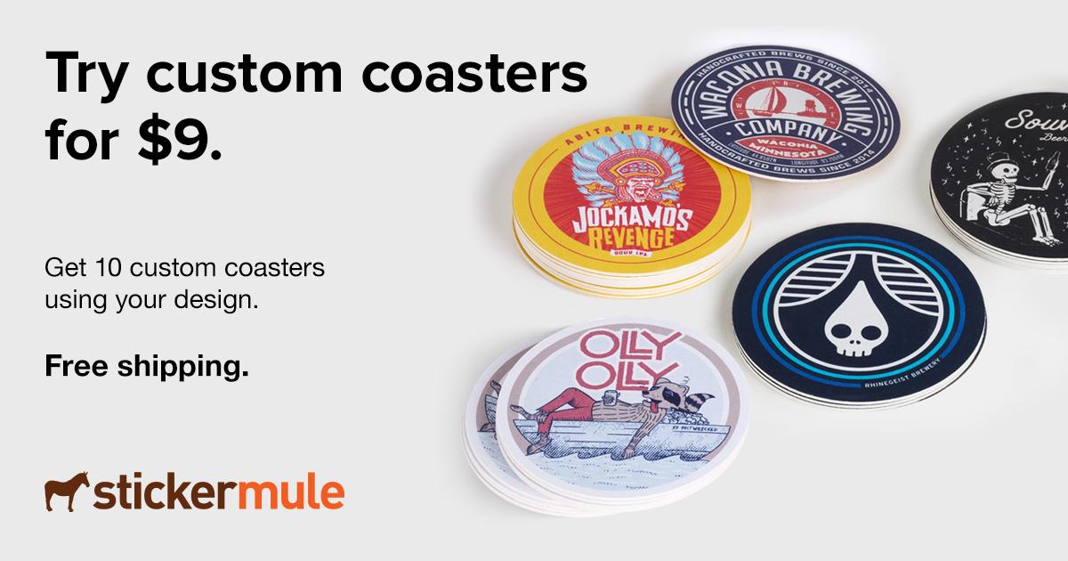 Stickermule: 10 Posavasos por $1 usd