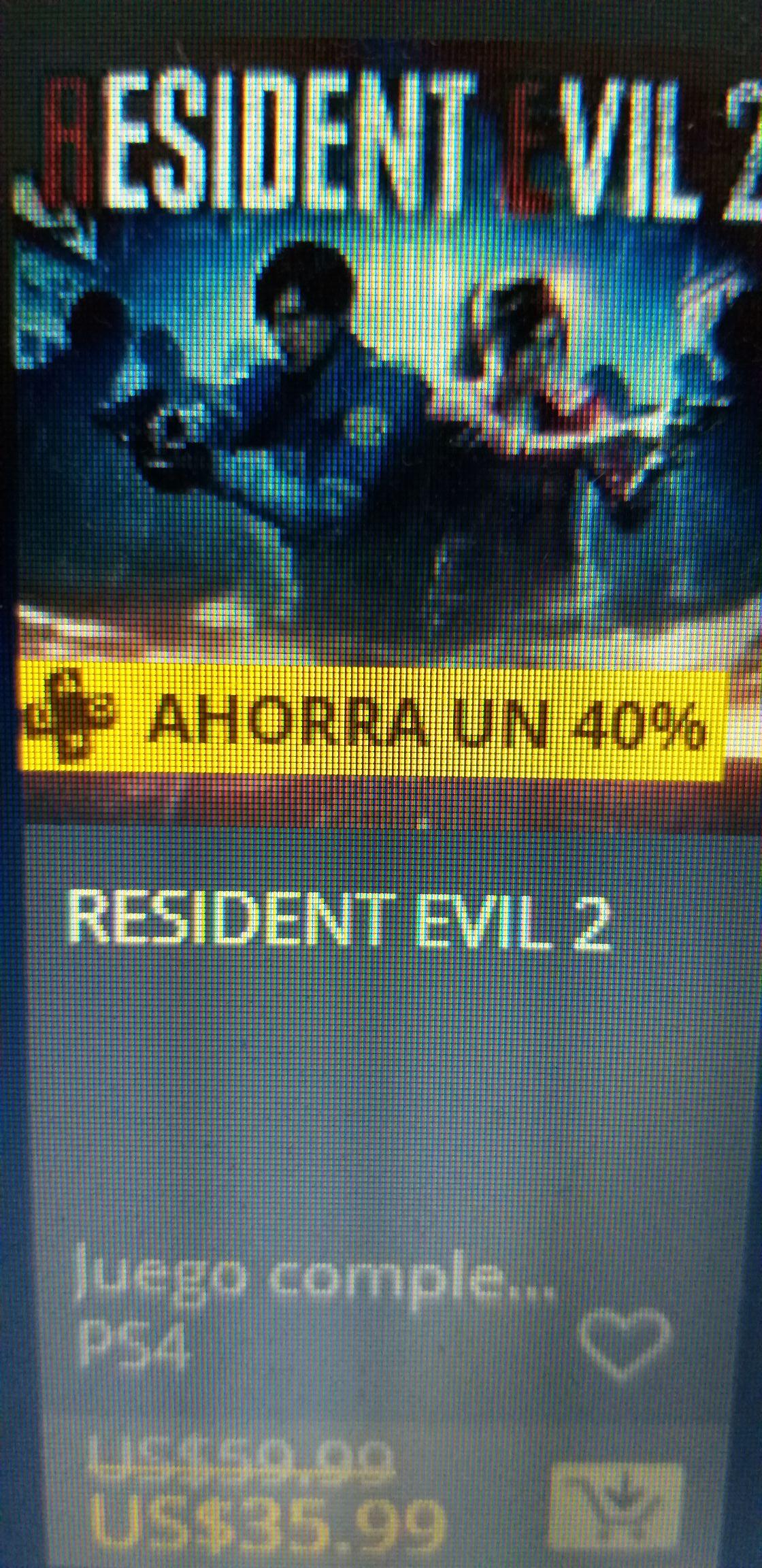 PSN: Resident evil 2 ps4 precio con Ps Plus