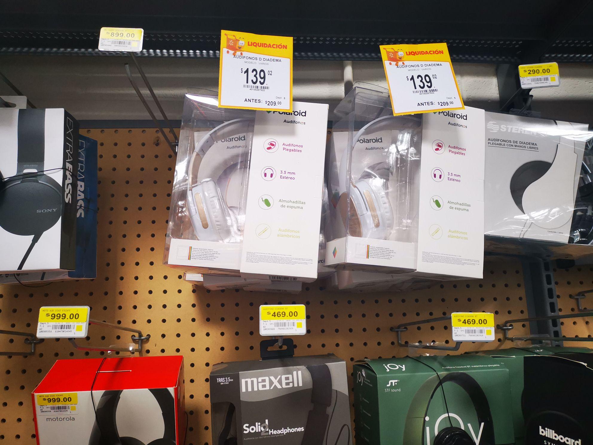 Walmart: Audifonos de Diadema Polaroid
