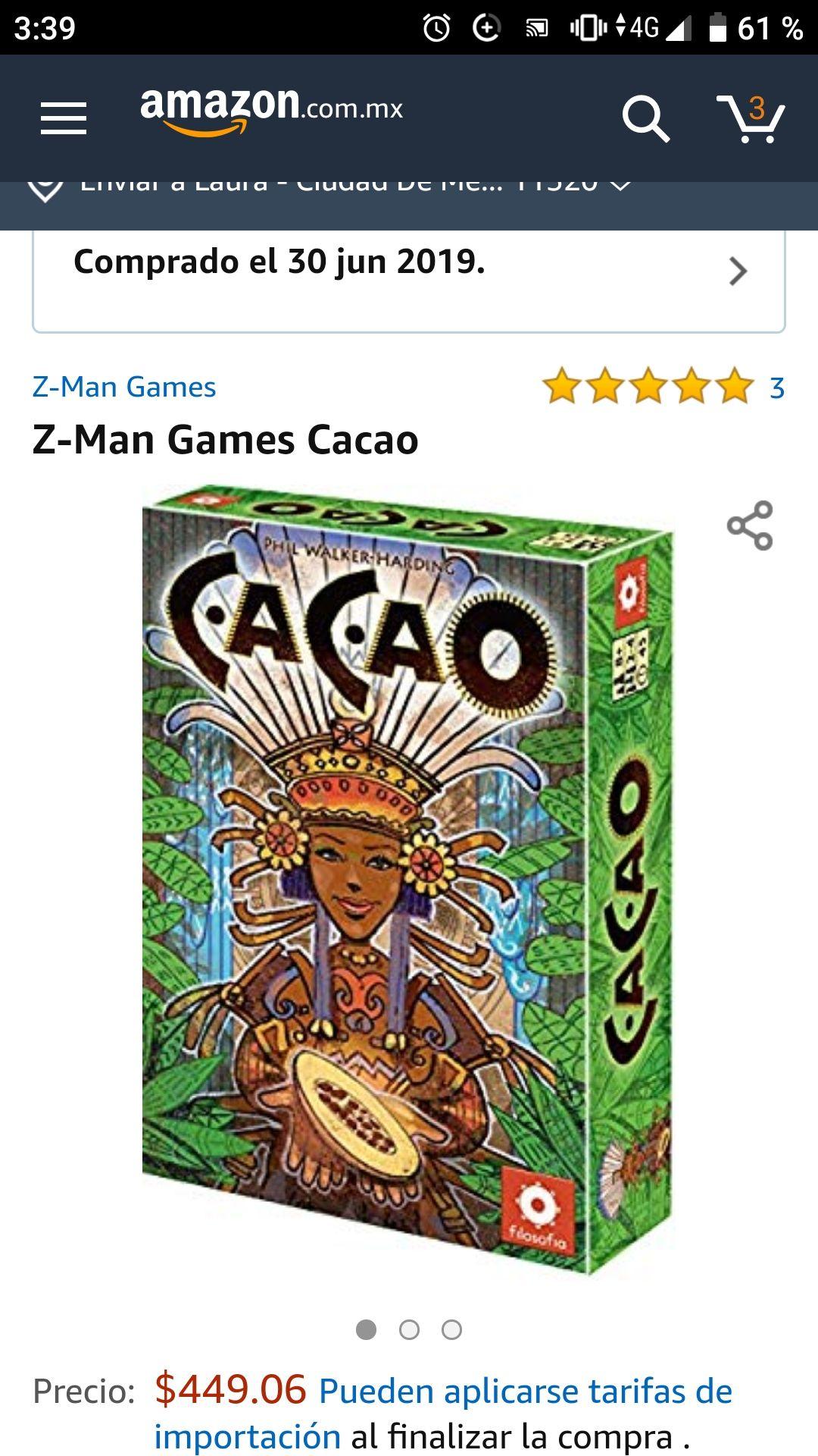 Amazon: Juego mesa cacao