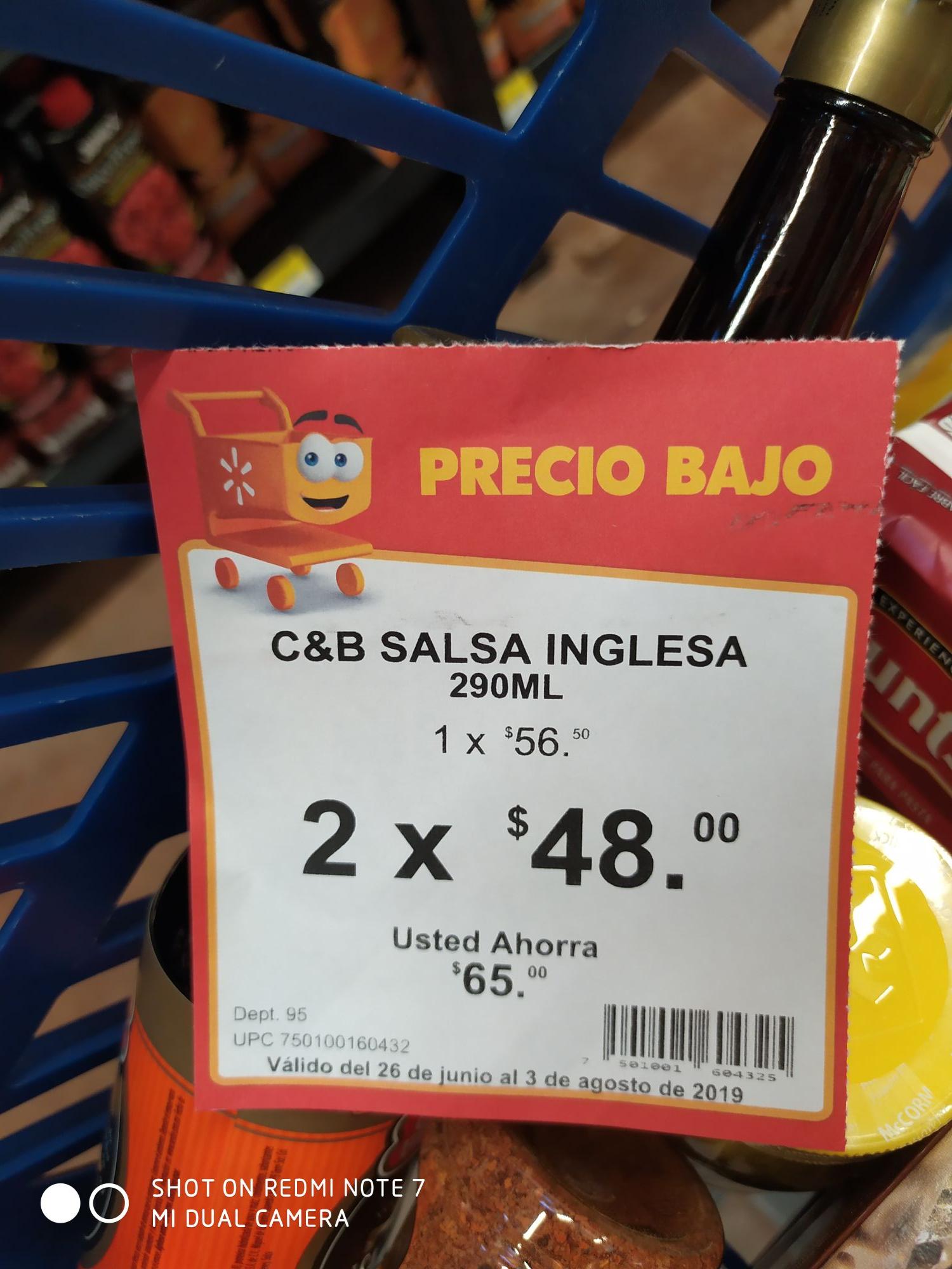 Walmart: C&B Salsa inglesa (2x$49)