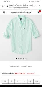 Abercrombie and fitch: camisa lino con logo