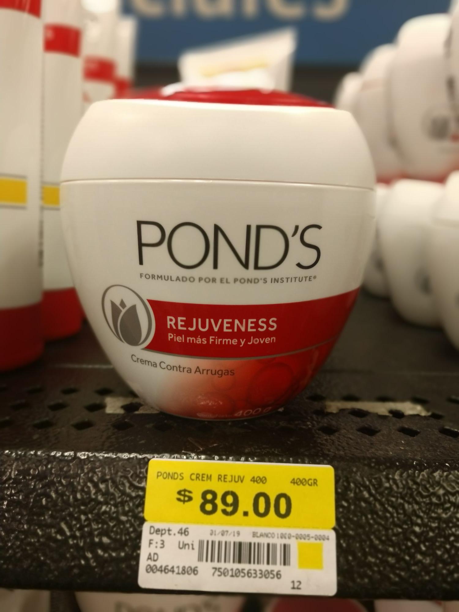 Walmart: crema pond's rejuveness de 400 gr
