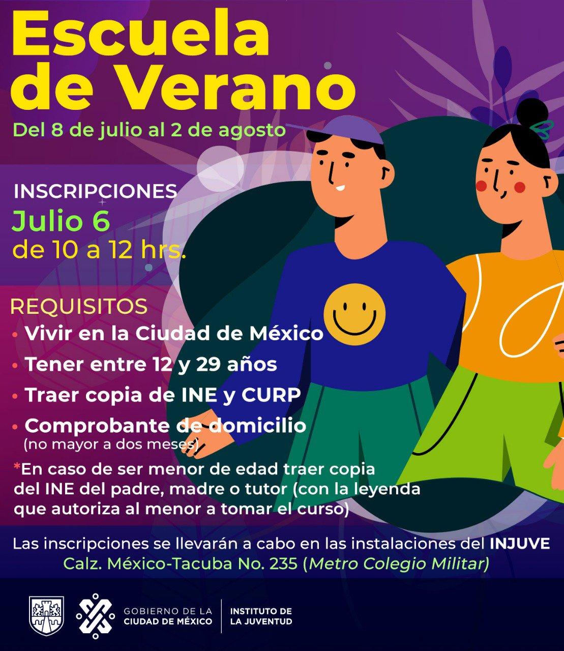 INJUVE CDMX: Escuela de Verano Gratuita