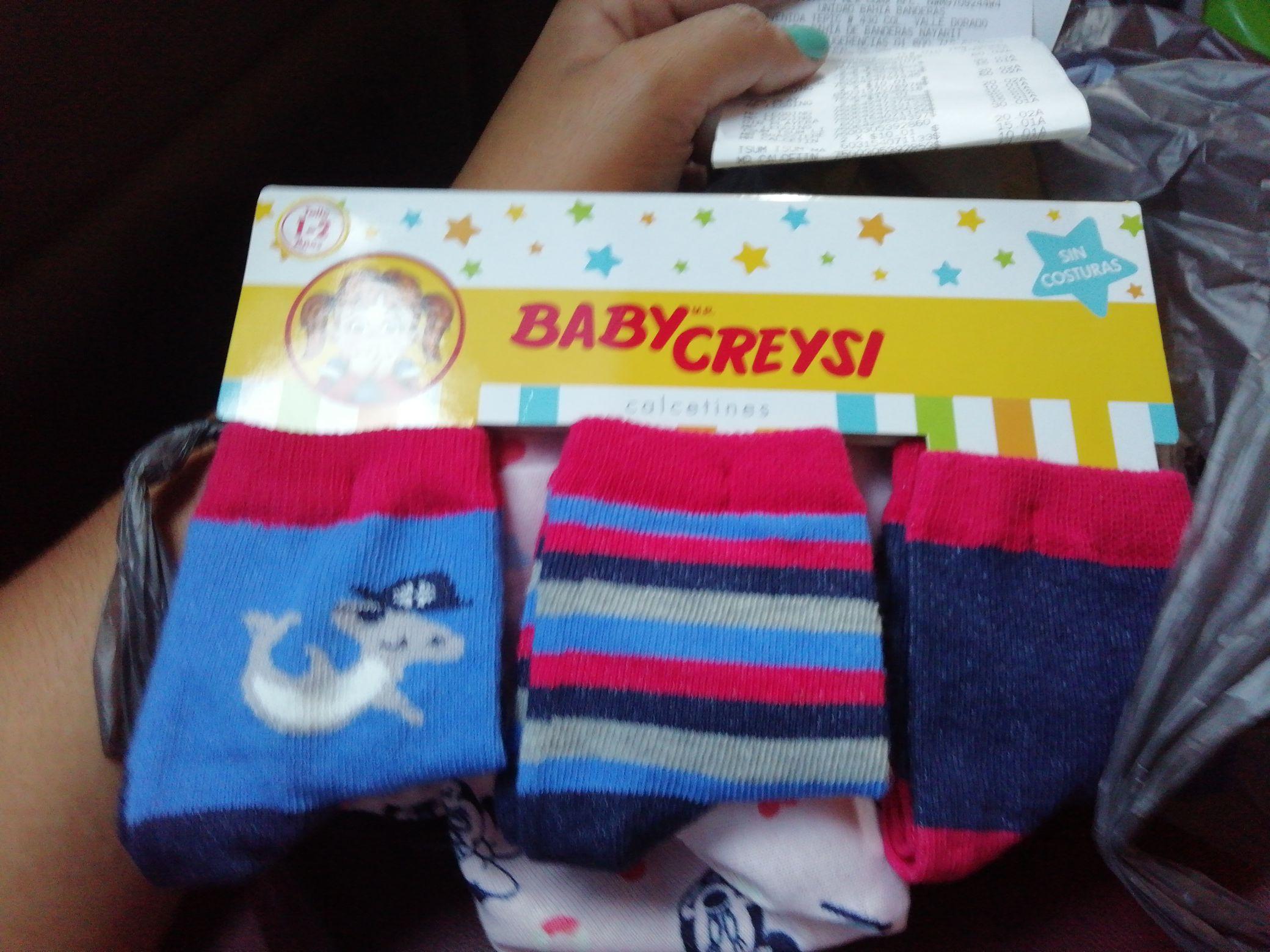Walmart 3 pares de calcetines Baby Creysi
